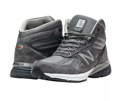 New Balance 990 V4 MADE IN THE USA Mid Sneaker Boot Grey MO990GR4 Men's Size 13