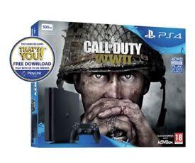 PlayStation 4 with COD WW2