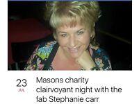 Charity nite with Stephanie carr