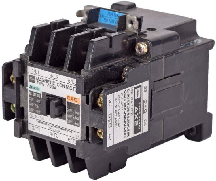 Toshiba C20A 3-Pole 20A Magnetic Contactor Unit