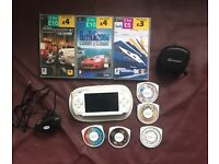 Sony psp white with games like new