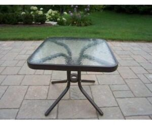 Patio table (glass) - $30