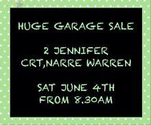 Massive Garage Sale - SAT 4TH JUNE 8.30AM Narre Warren Casey Area Preview