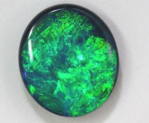 Australian Opal Doublet Lightning Ridge Stone Cabochon 3.93 cts