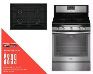 Milton Favourite ApplianceHouse has the best deals on Whirlpool Gas Oven Ranges