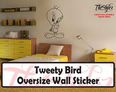 Looney Tunes - Tweety Bird Custom Vinyl Sticker Tweety Bird Vinyl