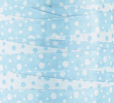 Boy Baby Shower Reversible Polka Dot Blue & White Curling Ribbon 20yds 3/8