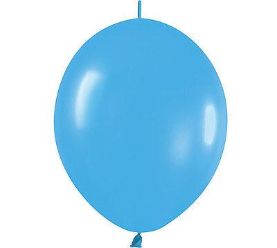 Blue Linkoloon 12 Balloons Lot/ 20 Arch Columns Wedding Birthday Baby Sports