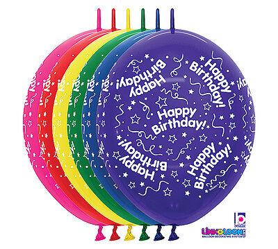 Happy Birthday Streamers Linkoloon 12 Balloons Arch Column Garland So Fast Ez