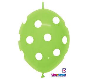 LIME-GREEN-POLKA-DOT-LINKOLOON-BALLOONS-ARCH-BABY-WEDDING-BIRTHDAY-FAST-EZ