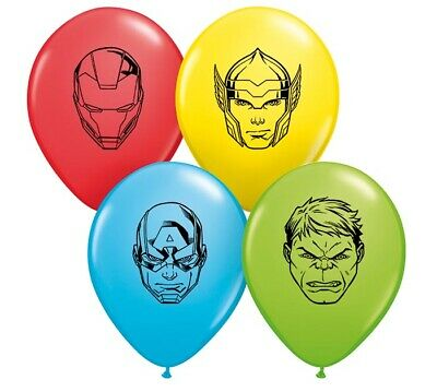 Face Balloons (25 Count 5'' Round Marvel's Avengers Faces Assortment Balloons Avengers)