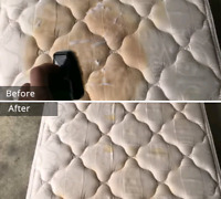Mattress steam cleaning (stain & spot removal,sanitize)