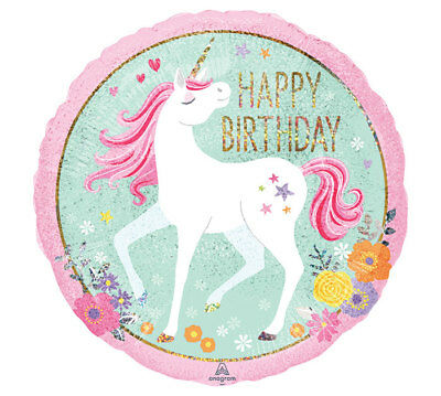 MAGICAL UNICORN HAPPY BIRTHDAY 2 SIDED