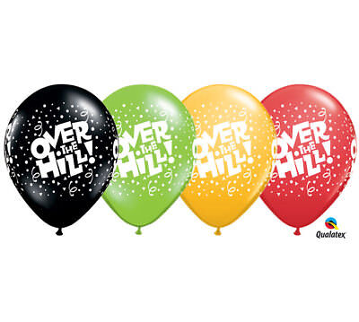 Over The Hill Balloons (Over The Hill 12 ct 11 Inch Milestone Balloons Assort Color Birthday)