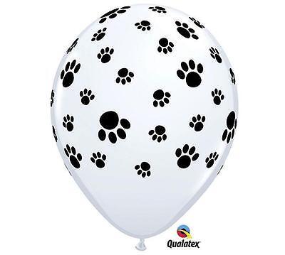 "PAW PRINT (12) 11"" Dog Cat Birthday Party Qualatex Latex  FREE SHIP"