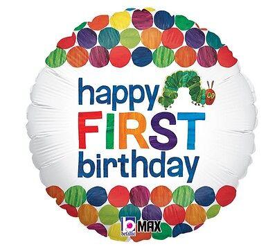 The Very Hungry Caterpillar 1st Birthday Balloon --- Happy First Birthday - The Very Hungry Caterpillar Balloons