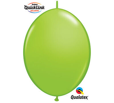 """20ct. LIME GREEN Quicklink 12"""" Latex Helium Linking Balloons MAKE ARCHES ARBORS for sale  Dayton"""