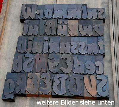 42 Holzbuchstaben 72 mm hoch Plakatlettern Buchstaben letterpress wood type