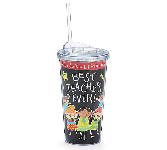Best Teacher Ever Insulated Tumbler Cup 20 oz Clear Lid and