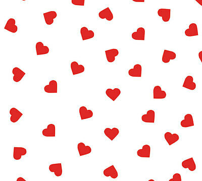 Small Red Polka Dot HEARTS on White Tissue Paper Gift Wrapping 20