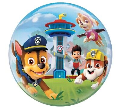 "Paw Patrol Birthday Bubble Foil Balloon 22"" for sale  Covina"