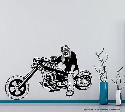 Bandana Dekorationen (Wandtattoo cooler Biker Bandana Motorrad motorcycle motorbike 676)