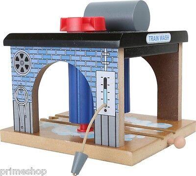 Eisenbahnzubehör Waschanlage Holz Zug Brio kompatibel 15 x 13 x 12 cm Neu