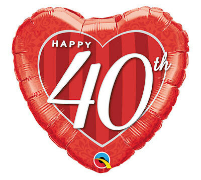 40th Birthday Red 40th Anniversary Decorations Party Supplies 18