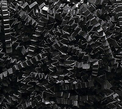 U Choose Size! JET BLACK Gift Basket Shred Crinkle Paper Grass Filler Bedding (Black Crinkle Paper)