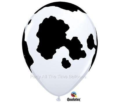 10 Each COW PRINT Balloons 11