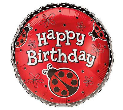 Red Black Ladybug LADY BUG Dots Birthday Party Mylar Balloon](Lady Bug Birthday)