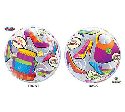 Shopping Spree Bubbles Stretchy Round Beach Ball Size Happy Birthday (Happy Birthday Shopping)