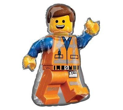 Lego Movie 2 Emmett Foil Balloon Birthday Party Decoration 32 In - new - Lego Birthday Party Decorations