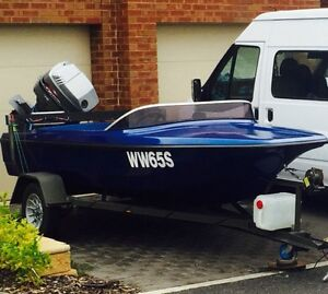 Ski Boat and Trailer Greenwith Tea Tree Gully Area Preview