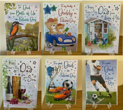 Father's Day Card ~ Choice of Titles, Designs Dad Daddy Grandad Husband