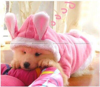 Pet Dog Cat Cute Bunny Clothes Warm Clothes Autumn Winter Puppy Costumes Apparel - Dog Bunny Costumes