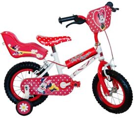 """Child's Minnie Mouse 16"""" bike with matching helmet"""