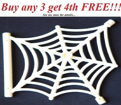 ☀️NEW Lego Halloween Animal WHITE Spider Web Spiderweb Hanging Bar Scary