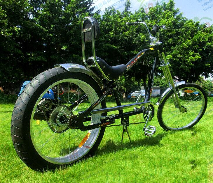 42cc 4 Stroke Rear Wheel Side Mount Gas Motorized Bicycle
