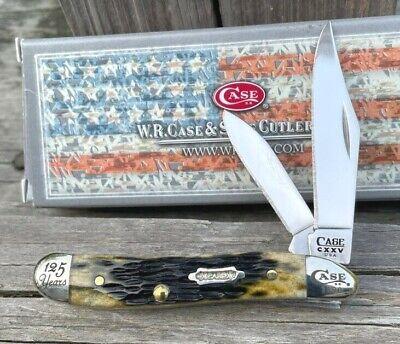CASE XX 125th ANNIVERSARY 6220 PEANUT OLIVE GREEN BONE POCKET KNIFE NIB