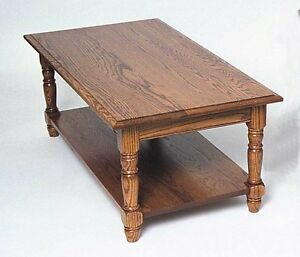 Oak Colonial Coffee Table and Pair of End Tables