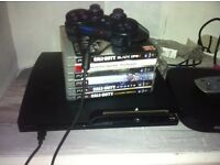 PS3 8 games and wireless controller all leads. Mint condition