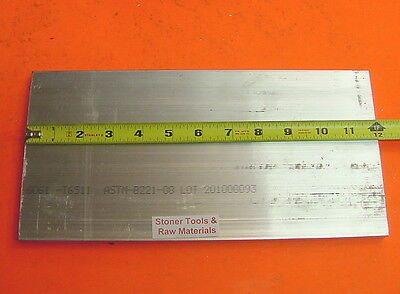 38 X 6 Aluminum 6061 T6511 Solid Flat Bar 12 Long .375 Plate New Mill Stock