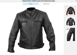 Leather Motorcycle Jacket Black
