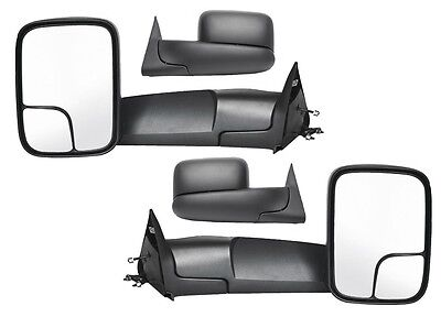 1998-2002 Dodge Ram 1500 2500 3500 Left/Right Side Manual Fold'g Tow Mirror PAIR