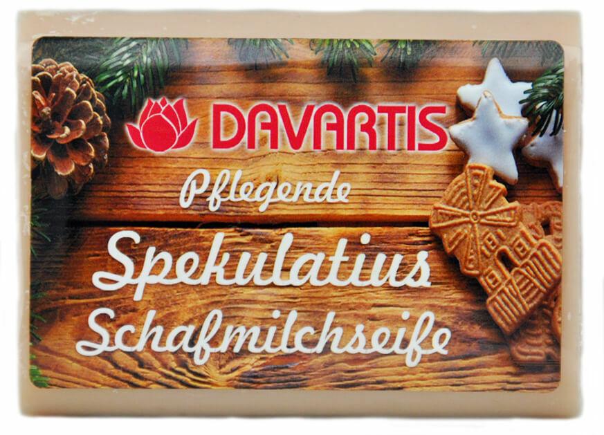 (7,32 EUR/100 g) Davartis Schafmilch Cremeseife - Spekulatius Duft 95g