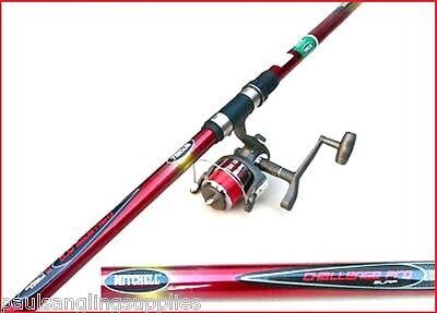 16 Ft Mitchell Rod & Lineaeffe 70 Reel Beachcaster Beach Sea Fishing