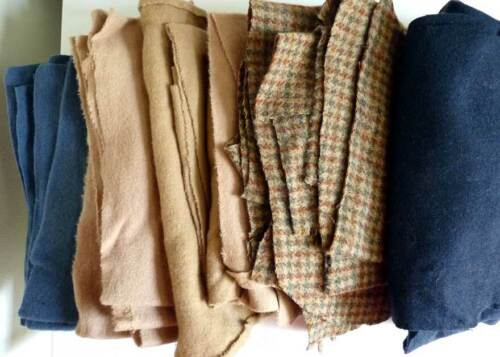 Vintage 3 lbs. Recycled Wool Fabric Primitive Hooking, Penny Rugs, Applique