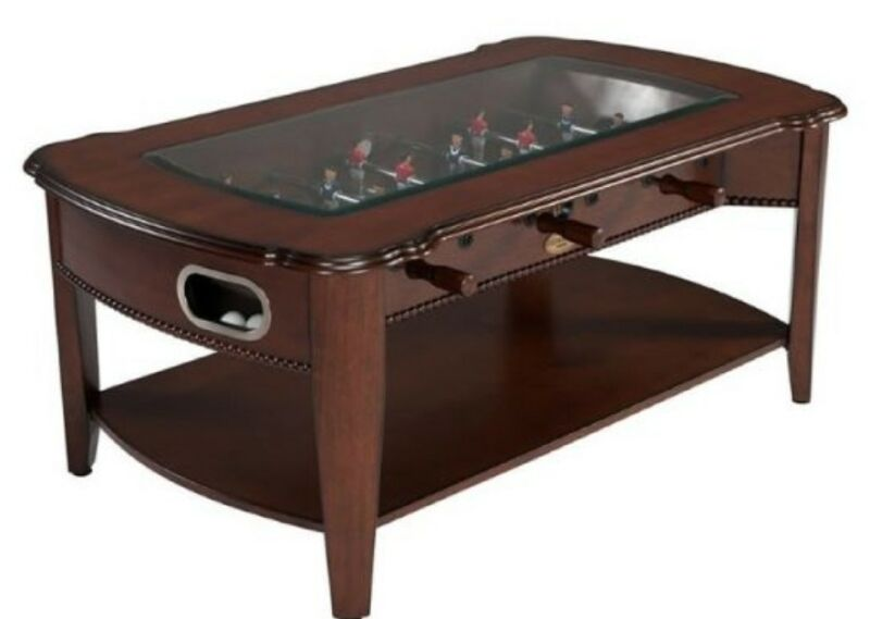 THE MAXWELL 2 in 1 GAME TABLE~FOOSBALL & COFFEE TABLE in WALNUT~BERNER BILLIARDS