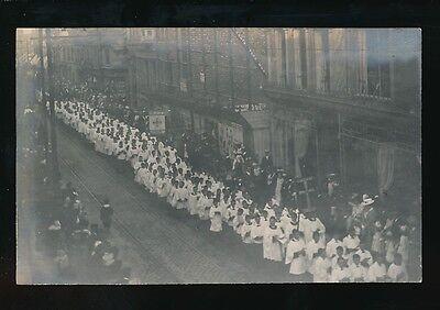 Lincolnshire Lincs Lincoln? Boston? Church Procession choir c1900/10s? PPC